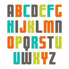 Varicolored sans serif font
