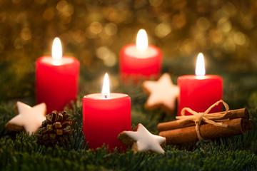 Adventskranz an Heiligabend