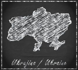 Karte von Ukraine