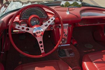 amerikanisches Automobil Corvette Innen