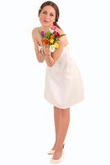 Eine hübsche Braut