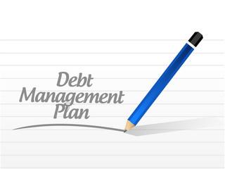 debt management plan message