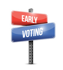 early voting sign illustration design