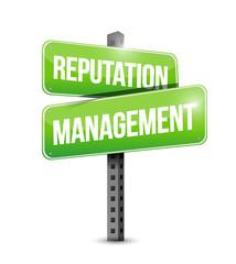 reputation management sign illustration design