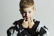 Funny child in sweater.fashion kids.children.little boy
