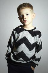 child in sweater.children trend.little boy.fashionable kids