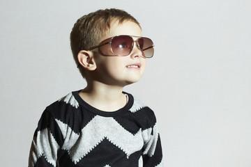 Smiling little boy in sunglasses.Child.Kids fashion