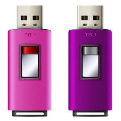 USB TB1  flash memory pink and purple color