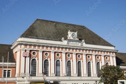 Poster Treinstation Hauptbahnhof in Hamm, NRW, Deutschland