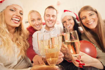 Toasting for Christmas or New Year
