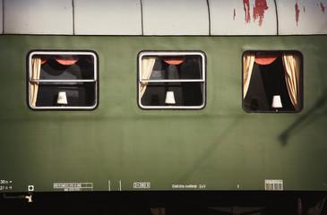 Old,retro luxury train wagon