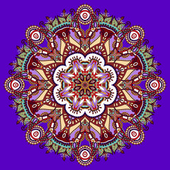 violet colour mandala