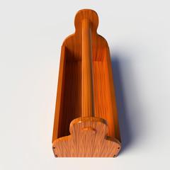 Empty wooden toolbox