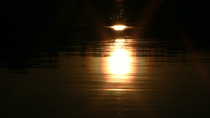 Sunset reflection in water