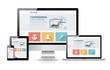 Modern web design concept. Flat vector illustration mock up.