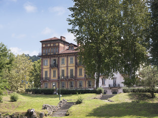 Buildings by River Po in the City of Turin in Northern Italy