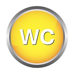WC button, toilet icon