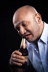 man emotionally open beer teeth