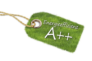 Hänger aus Gras mit Energieeffizienzklasse A++