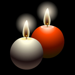 ball candles illustration