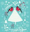 Obrazy na płótnie, fototapety, zdjęcia, fotoobrazy drukowane : Christmas vector illustration with Christmas Tree