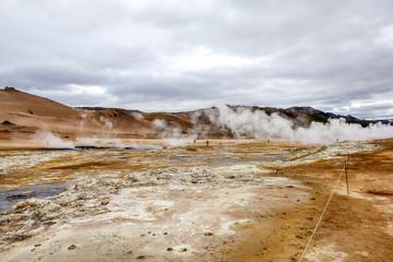 Geothermal landscape in Iceland3