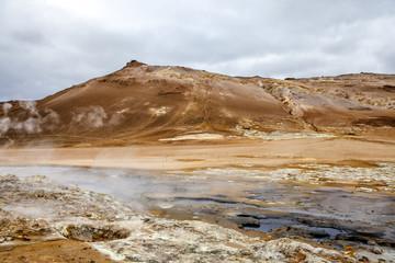 Geothermal landscape in Iceland5