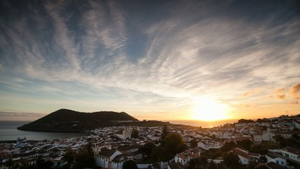 Short sunset time lapse Azores island | 4K video