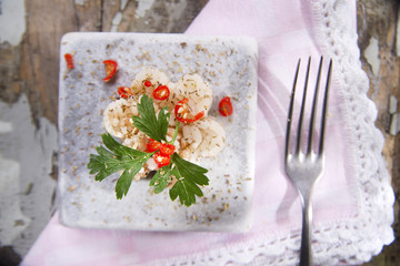 Risotto with parsley