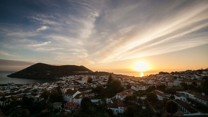Sunset in the Azores, 4K time lapse