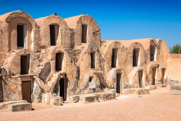 Tunisia. Medenine. Fragment of old Ksar located inside village.
