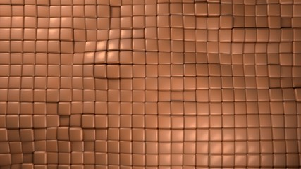 copper cubes background