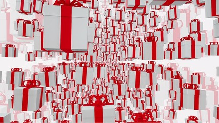White Gift boxes on a white background