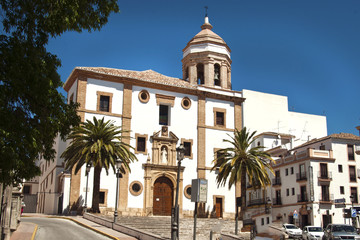 Church in the center of Ronda, Spain