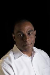 Portrait of a man on a black background