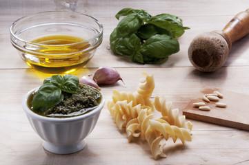 Ingredients for Genovese pesto