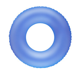 Blue inflatable swimming ring
