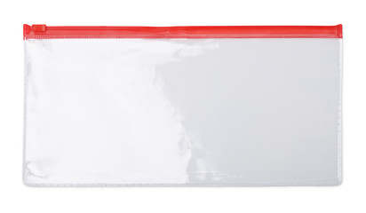 Plastic transparent zipper document  bag