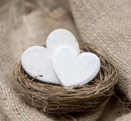 couple de coeurs blanc