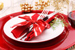 Holiday Dinner Plate Setting - 72685626