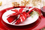 Holiday Dinner Plate Setting