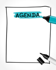 textmarker filzstift text agenda I