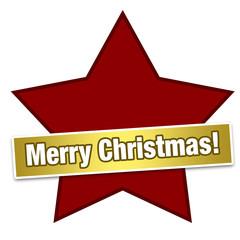 Stern mit Merry Christmas