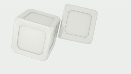 3D ANIMATED WHITE CUBE