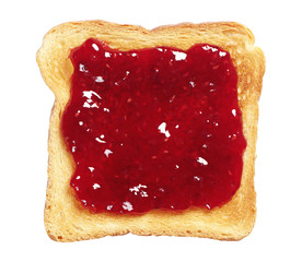Toasted bread with jam