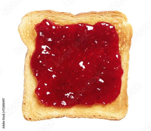 Fotobehang Bakkerij Toasted bread with jam