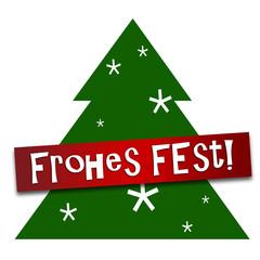 Tannenbaum mit Frohes Fest!