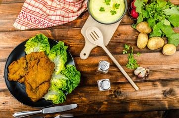 Wiener Schnitzel with mashed potato