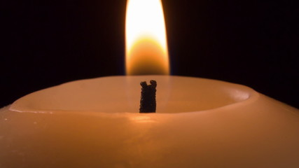 setting candle in the dark, narrow dof 1080 RAW footage