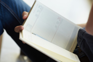 businessman with datebook